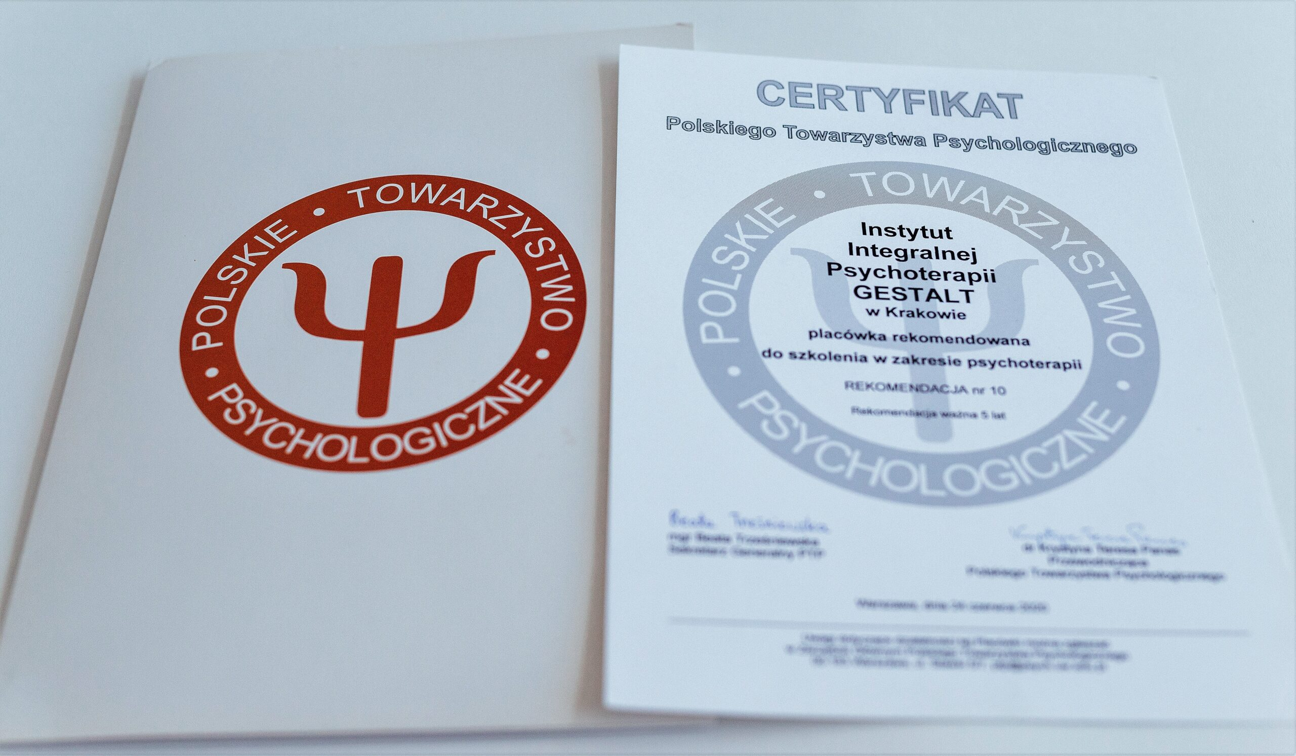 Rekomendacja programu szkoleniowego w Polskim Towarzystwie Psychologicznym