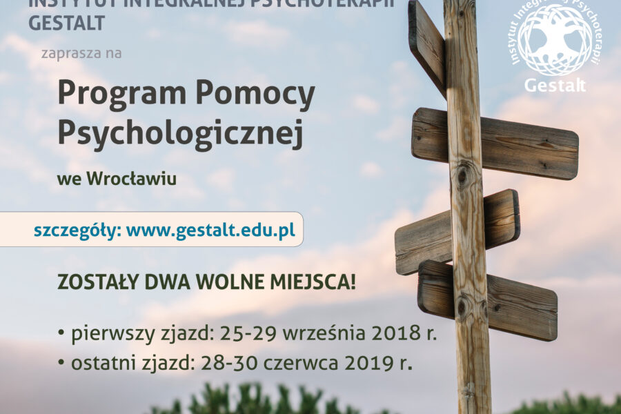 I rok Szkoły Psychoterapeutów Gestalt we Wrocławiu. 25-29.02.2020