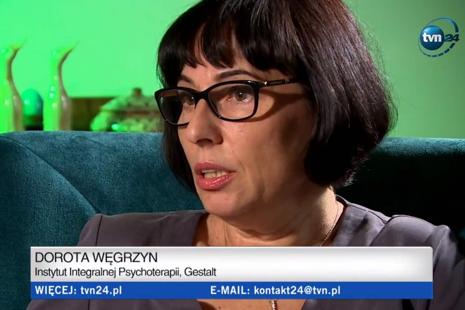 Dorota Węgrzyn i prof. Bogdan de Barbaro w TVN24